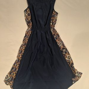 Blue dress with pattern